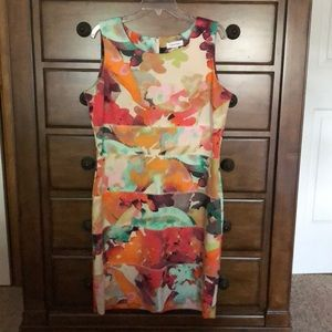 Calvin Klein flowered dress